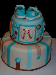 baby shower themed cake for a baby boy decorating of party
