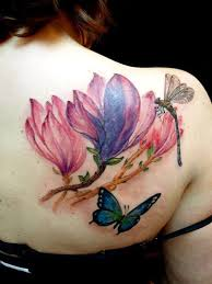 25 watercolor magnolia tattoos and designs
