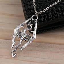 skyrim pendant necklace images Wholesale new dinosaur pendant necklace skyrim elder scrolls jpg