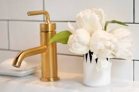 Gold Bathroom Faucets Brushed Gold Bathroom Faucet Design Ideas