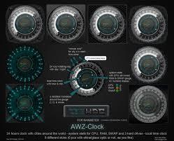 Futuristic Clock Awz Clock For Rainmeter By D4fmac On Deviantart