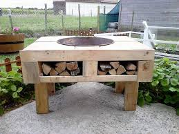 Diy Firepit Table Diy Pallet Pit Table Diy Pallet Pit Table With Firewood