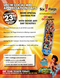 Six Flags Tickets Maryland Spring Is Here Celebrate With Union Discounts To Six Flags And