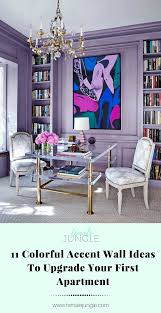 Purple Accent Wall by 11 Colorful Accent Wall Ideas To Upgrade Your First Apartment