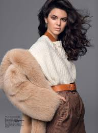 jenner sweater kendall jenner layers up in fall fashions for vogue turkey