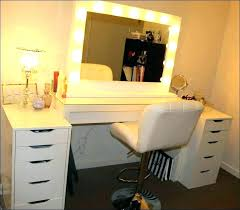 white makeup vanity with lights and drawers table best mirror