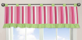 Lime Green Valances Amazon Com Pink And Green Olivia Window Valance By Sweet Jojo