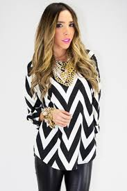 chevron blouse black and white chevron blouse sleeve on the hunt