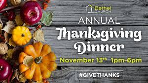 community thanksgiving dinner bethel church