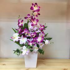 orchid flower arrangements silk orchids silk flowers artificial flower arrangement singapore