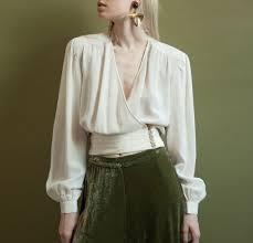wrap shirts blouses vintage silk wrap blouse model arabella neapoli photography