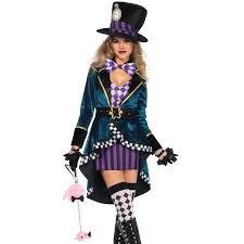 Womens Costumes Delightfully Mad Hatter Womens Wonderland Costume Halloween Costumes