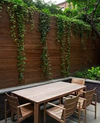Different Types Of Fencing For Gardens - garden design ideas wooden privacy fence planting ivy