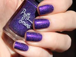purple glitter car carina holographic nail polish pretty serious cosmetics usa