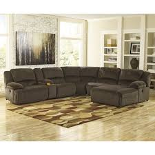 Recliner And Chaise Sofa by Signature Design By Ashley Toletta Chocolate Reclining Sectional