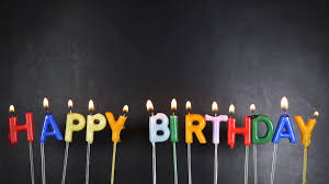 birthday candle happy birthday candles on black background stock footage