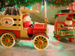 gold glitter car retro restyling merry christmas trees