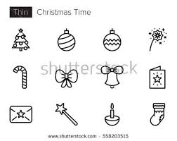 christmas line icons download free vector art stock graphics