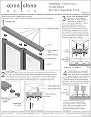 Barn Door Hardware Installation How To Install A Sliding Closet Door Easy Sliding Door Hardware On