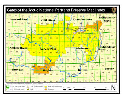 Map Of National Parks In Usa Maps Gates Of The Arctic National Park U0026 Preserve U S National