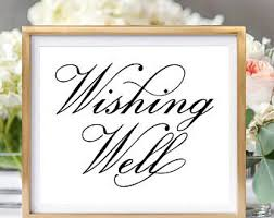 Wedding Signs Template Wishing Well Sign