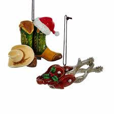 kurt adler western cowboy boot spur ornaments