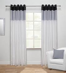 white harmony ready made faux silk eyelet curtains
