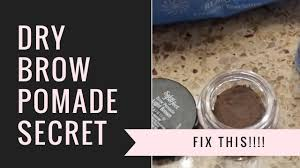 Pomade Fix how to fix dried up brow pomade easy hack