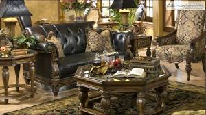 Black Leather Living Room Sets Decorating Essex Manor Living Room Set By Michael Amini Furniture