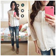 swiss dot blouse october stitch fix my favorite one to date