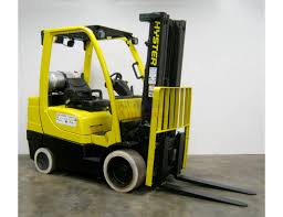 New Engine 7 000 Lb Hyster Triple Mast Cushion Forklift