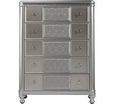 Badcock Bedroom Furniture Sets Hefner Silver 5 Drawer Chest Badcock U0026more