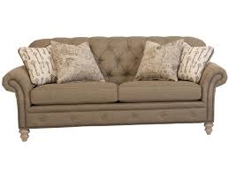 Beige Tufted Sofa by Smith Brothers 396 Traditional Button Tufted Sofa With Nailhead