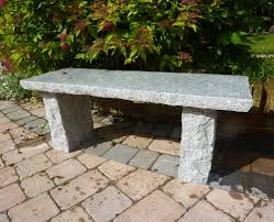 The Range Garden Furniture Large Garden Benches Classic Natural Granite Grey Stone Bench