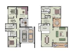Small House Plans With Photos Duplex Small House Design Floor Plans With 3 And 4 Bedrooms