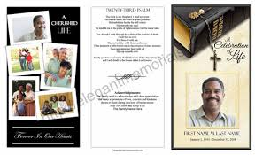 templates for funeral program trifold funeral program exle funeral programs with collage