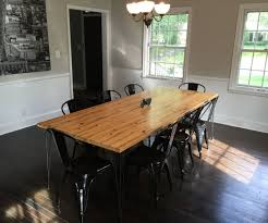 dining room table from reclaimed wall studs 9 steps with pictures