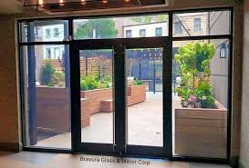Exterior Aluminum Doors Aluminum Doors Bravura Glass Mirror Corp Bravura Glass