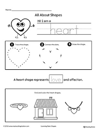 all about heart shapes shapes worksheets printable worksheets