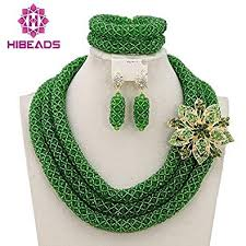 beads design necklace images 3 rows handmade nigerian african crystal beads jewelry jpg