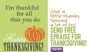take time to say thank you with free thanksgiving epraise