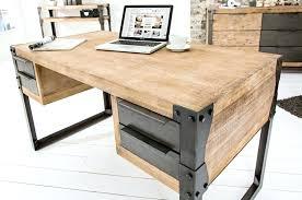 bureau massif moderne bureau bois massif moderne distinguac design en blanc acacia 4