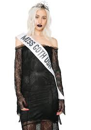 halloween goth pageant queen costume dolls kill