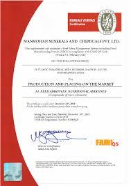bureau veritas mumbai office fami qs certification manmohan minerals and chemicals p ltd