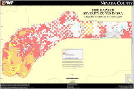 nevada counties map cal nevada county fhsz map