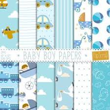 baby boy digital paper baby boys toys light blue brown with