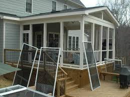 screened porch wall materials