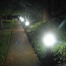120v Landscape Lighting Fixtures by 42w Usa Plug In Cfl Round Dome Top Bollard Type 5 Glass 120v 277v