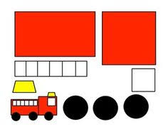 fire truck craft template ready fight fires rescue