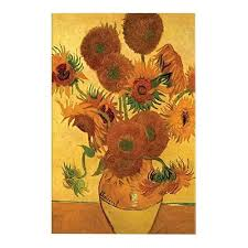 Vase Of Sunflowers Vase With Fifteen Sunflowers U0027 By Vincent Van Gogh Painting Print